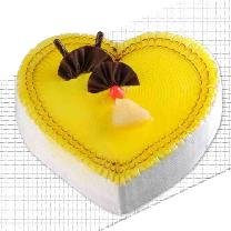 Heart Shaped Pineapple Cake