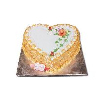 Half Kg Heart Shape Butterscotch Cake